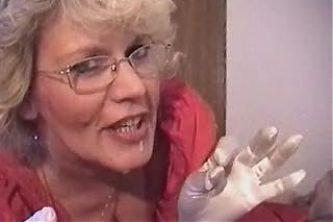 Hot Granny Teacher Smoking BJ