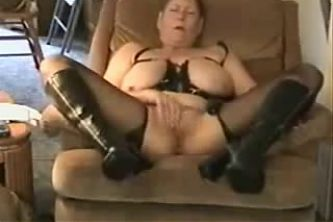 Great orgasm of slut granny. Amateur