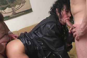Aged Italian Mistress Give Instructions To 2 Submissive Guys