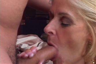 Good looking blonde granny